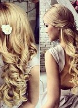 2 coiffures mariage cheveux long blonde boucle cascade