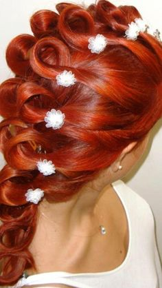coiffure mariage tresse africaine cheveux long rouge