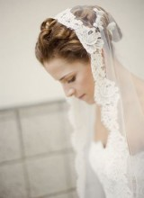idee coiffure cheveux court mariage voile